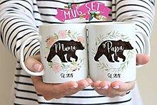 """Kaffeebecher mit Aufschrift """"Mama Bear and"""
