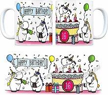 Kaffeebecher mit Einhorn Geburtstagsparty Motiv