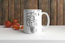 Kaffeebecher mit Fahrzeugkarosserie-Zeichnung, 313