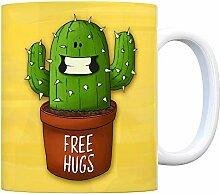 Kaffeebecher mit freundlicher Kaktus Motiv und