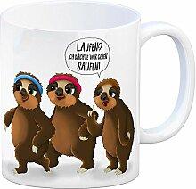 Kaffeebecher mit laufende Faultiere Motiv und