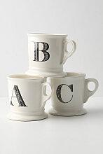 Kaffeebecher mit Monogramm - White