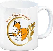 Kaffeebecher mit Motiv - Beste Fuchsmama mit