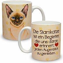 Kaffeebecher mit Motiv Große XXL Tasse Siamkatze