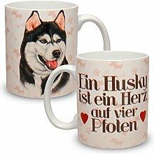 Kaffeebecher mit Motiv Hund Große XXL Tasse Husky