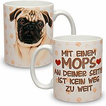 Kaffeebecher mit Motiv Hund Große XXL Tasse Mops