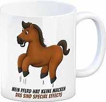 Kaffeebecher mit Pferde Motiv und Spruch: Mein