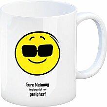 Kaffeebecher mit Spruch: Eure Meinung tangiert