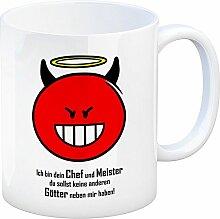 Kaffeebecher mit Spruch: Ich Bin Dein Chef und