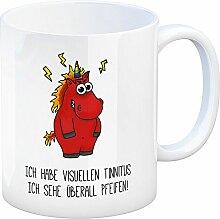 Kaffeebecher mit Spruch: Ich habe visuellen