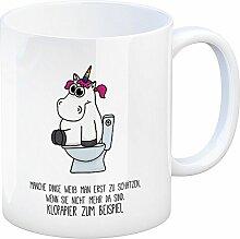 Kaffeebecher mit Spruch: manche Dinge weiß man