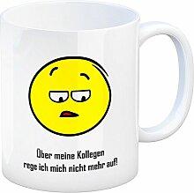 Kaffeebecher mit Spruch: Über meine Kollegen rege