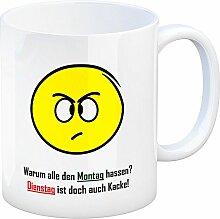 Kaffeebecher mit Spruch: Warum alle den Montag