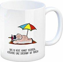 Kaffeebecher mit Spruch: was du Heute Kannst