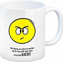 Kaffeebecher mit Spruch: Wir können es schon so