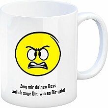 Kaffeebecher mit Spruch: Zeig mir deinen Boss und
