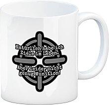 Kaffeebecher mit Spruch: Ziele im Leben, Nicht