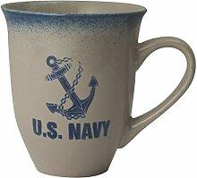 Kaffeebecher mit US-Marine-Anker-Logo, 473 ml,