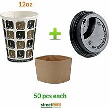 Kaffeebecher, Motiv-, (Deckel + Kaffee-Becher für