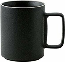 Kaffeebecher Nordic Black Matte Becher mit Deckel
