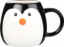 Kaffeebecher Pinguin aus Fayence