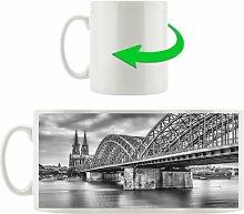 Kaffeebecher Prächtige Hohenzollernbrücke in