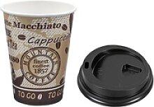Kaffeebecher Premium mit Deckel, `Coffee to go`,