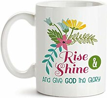 Kaffeebecher Rise and Shine and Give God The Glory