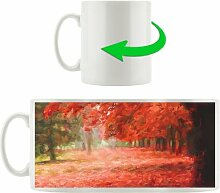 Kaffeebecher Roter Herbstwald