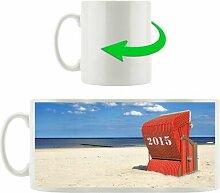 Kaffeebecher Roter Strandkorb