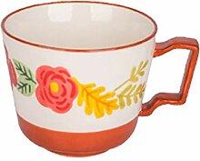 Kaffeebecher Schöne Blume gedruckt Becher mit