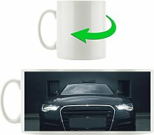 Kaffeebecher Schwarzer böser Audi frontal