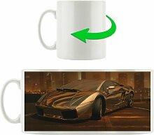 Kaffeebecher Schwarzer Lamborghini
