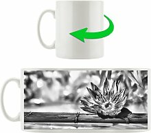 Kaffeebecher Seerose auf Bambus Wellness