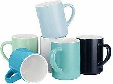 Kaffeebecher-Set aus 6 Porzellanbechern für