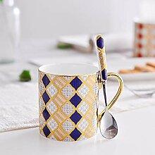 Kaffeebecher-Set aus Keramik, dunkler Kaffee, Tee,