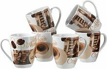 Kaffeebecher-Set Latte Macchiato
