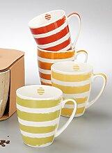 """Kaffeebecher-Set """"Summer Stripes"""" BECHER SUMMER STRIPES 4ER-SET 602744"""