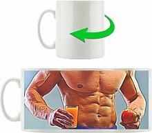 Kaffeebecher Six Pack mit Orangensaft und Apfel