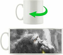 Kaffeebecher Stolzer Gorilla isst East Urban Home