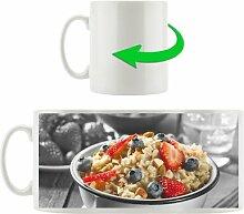 Kaffeebecher Süßes Früchte Müsli