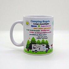 Kaffeebecher & Tasse - Camping-Regeln (Wohnmobil)