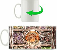 Kaffeebecher Teeglas mit Teekästchen