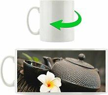 Kaffeebecher Teekanne mit Blüte