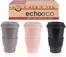 Kaffeebecher to go aus Bambus [3er-Pack]