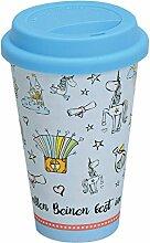 Kaffeebecher to go ~ Einhorn - blau ~ Trinkbecher