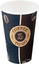 Kaffeebecher Topline Slim, `Coffee to go`, Pappe