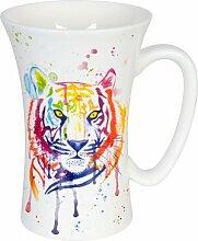 Kaffeebecher Watercoloured Tiger aus Bone China