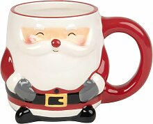 Kaffeebecher Weihnachtsmann aus Fayence