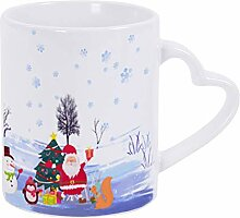 Kaffeebecher (weißer Schneemann)
